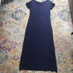 Gap Scoop Neck Navy Blue Maxi Dress Size S